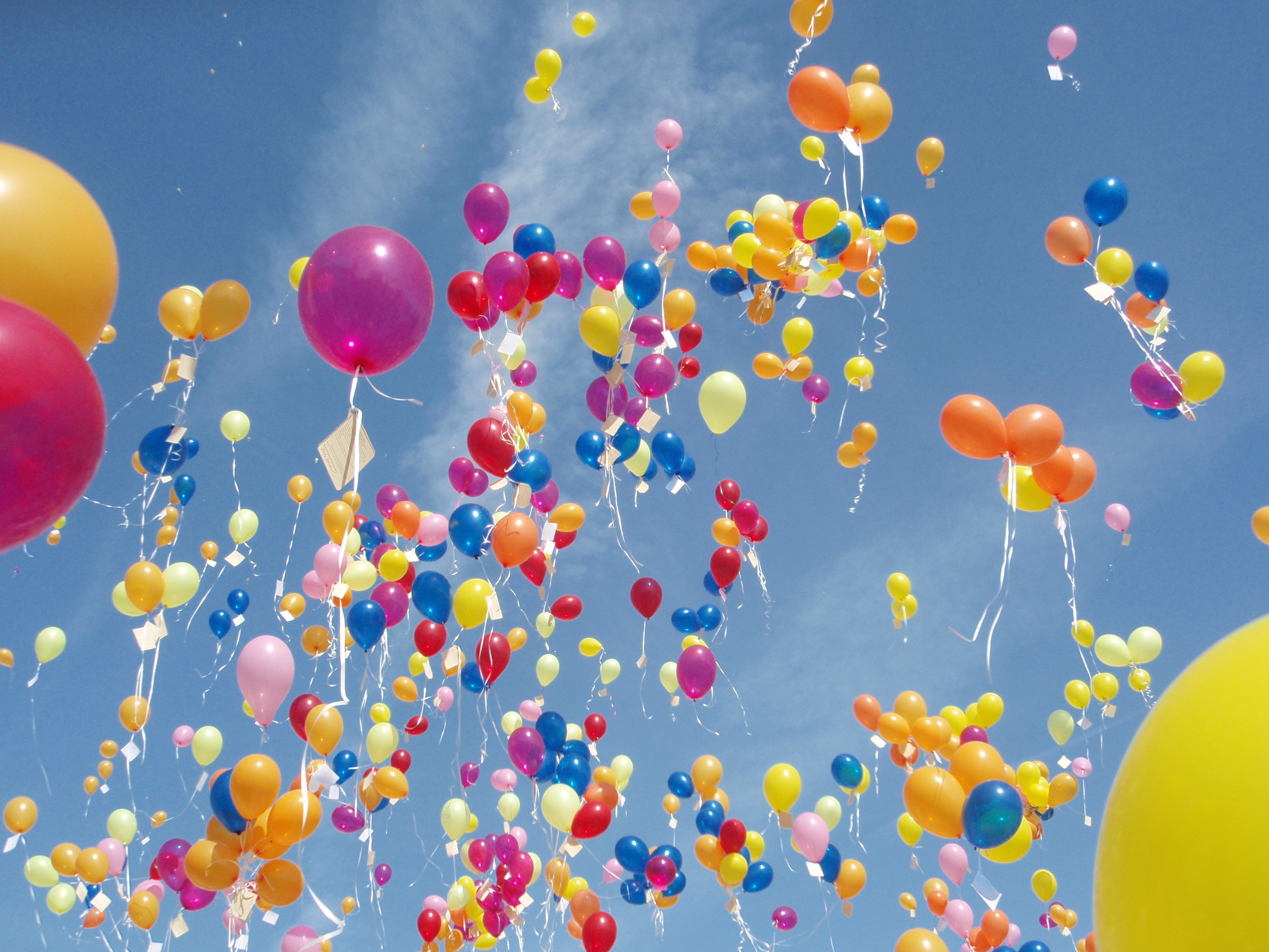 Воздушные шарики в небо картинки