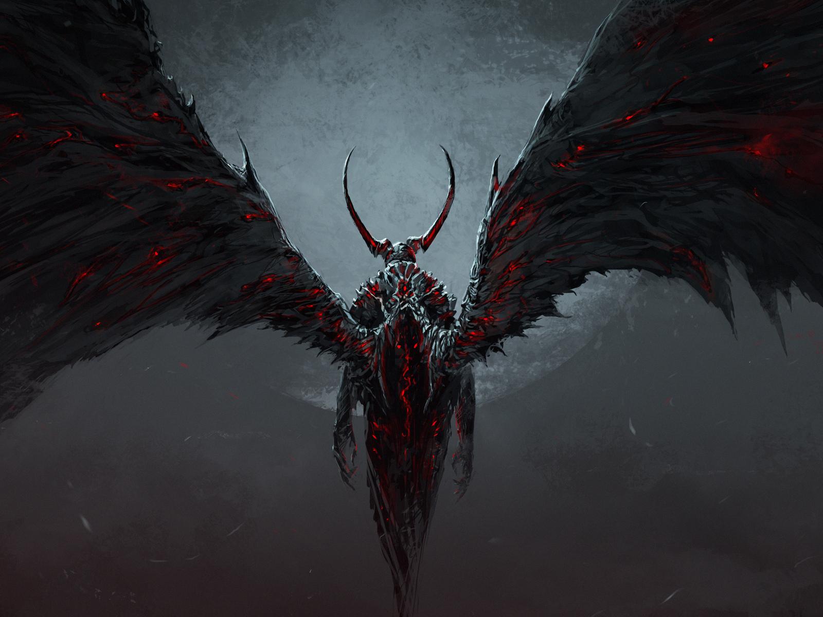 Крылья демон картинки