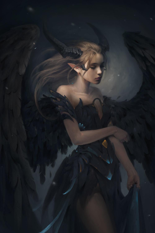 Картинки девушек демонов красивые