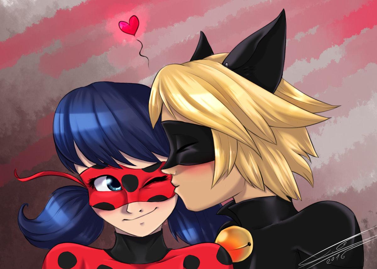 Леди баг и супер-кот картинки целуются