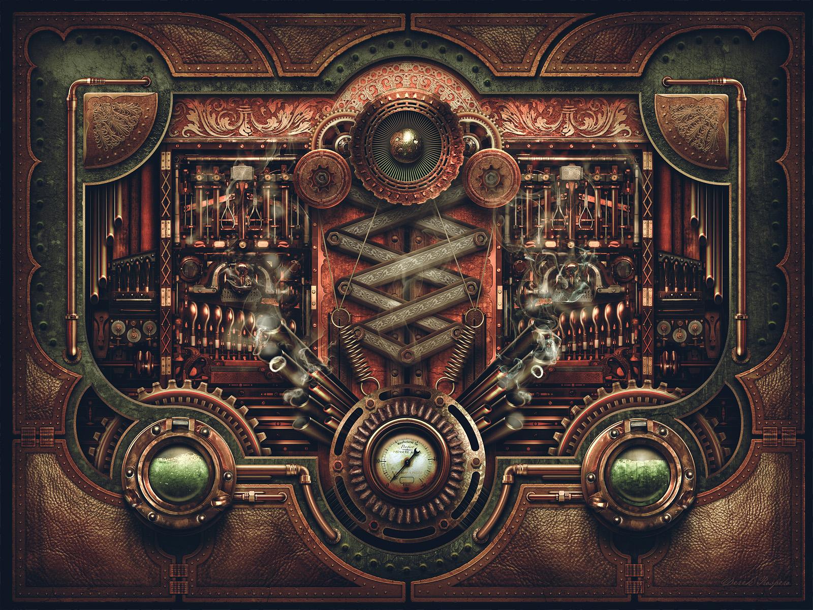 Картинки в механическом стиле
