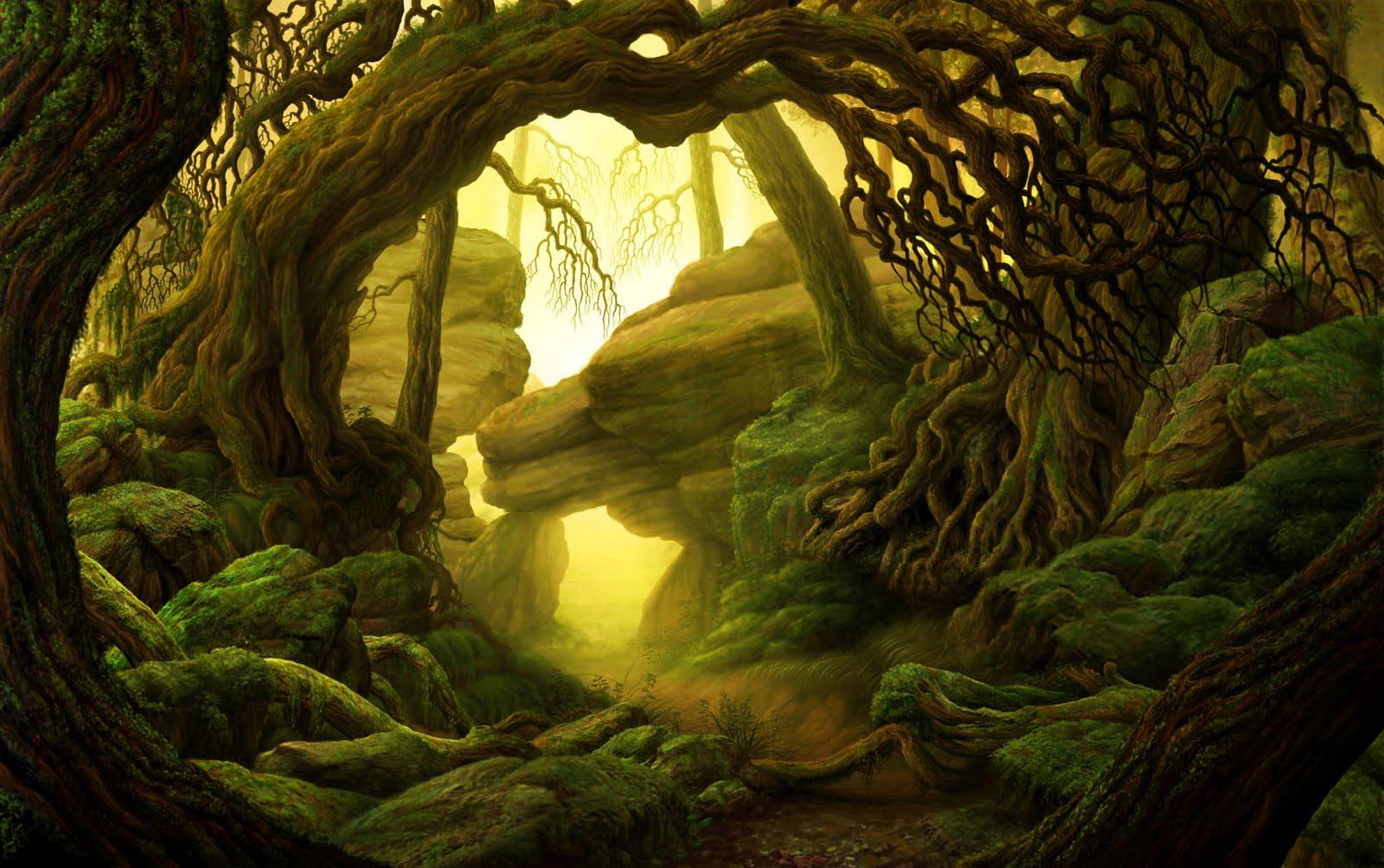 Картинки фэнтези лес тропинка