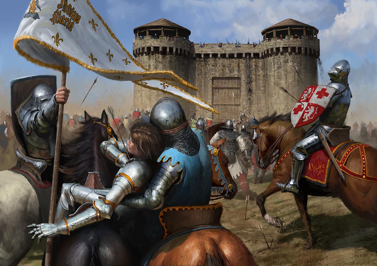 Средние века рыцари картинки