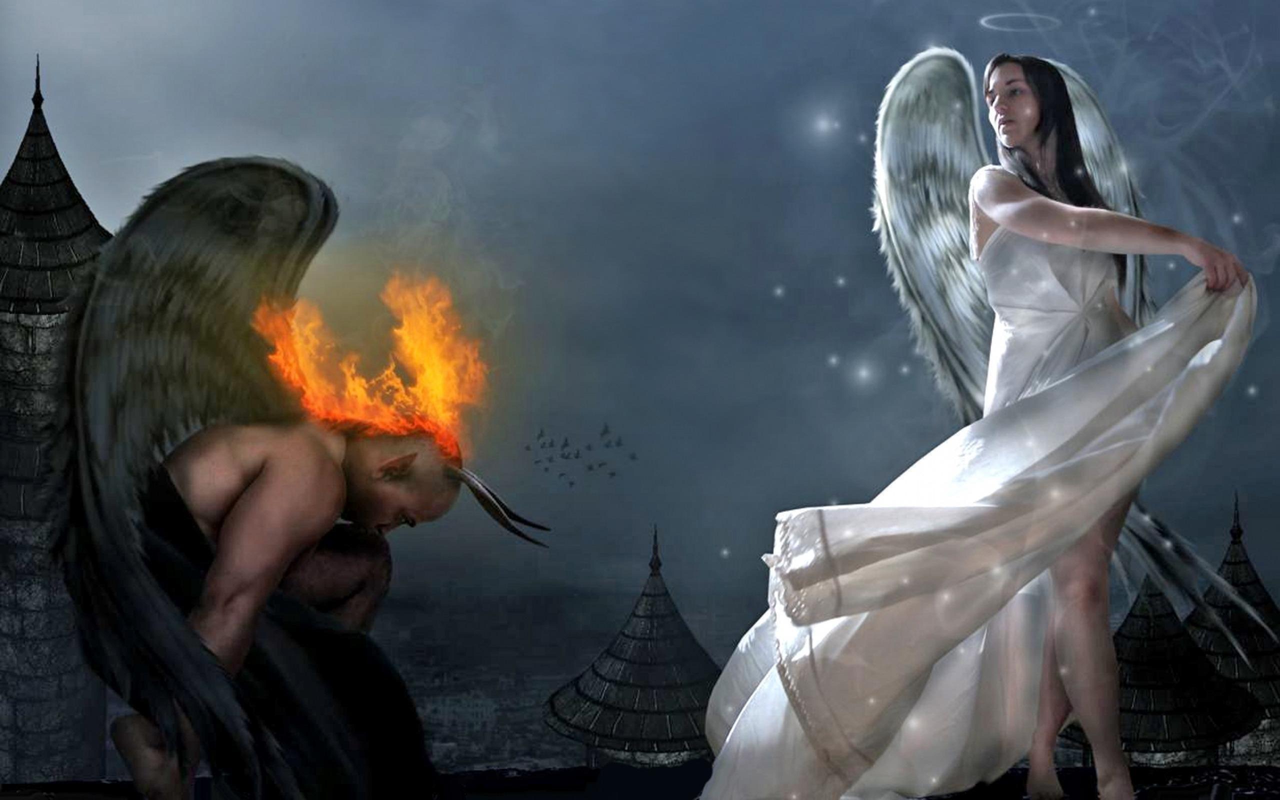 Картинки с ангелами и демона