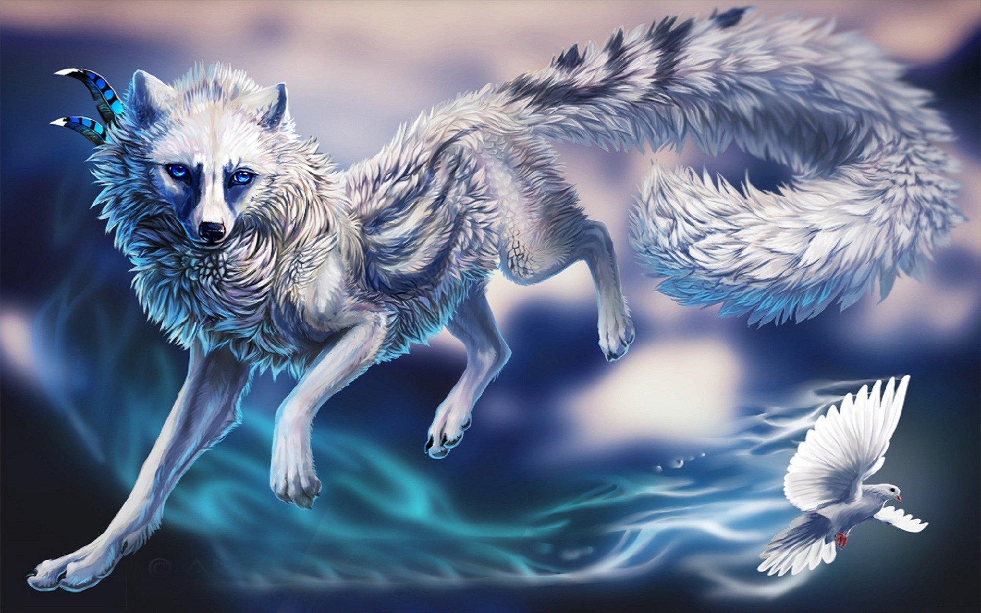 Картинки голубая волчица нас можно