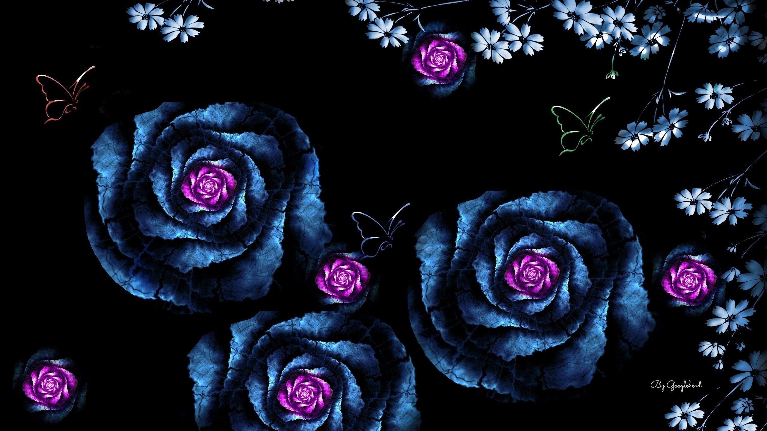 Картинки с цветком на черном фоне