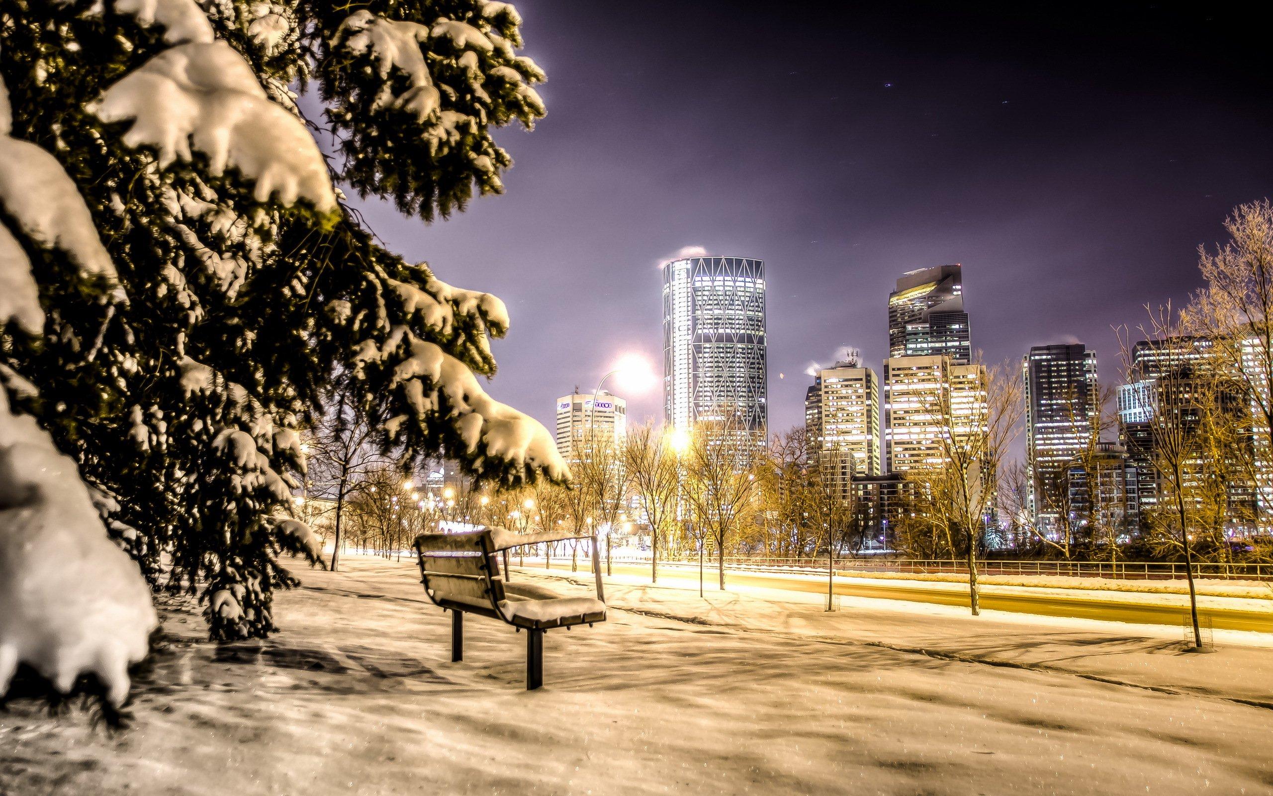 картинки на телефон зимы в городе большие