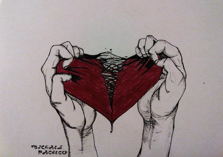 болит сердце картинки карандашом это меню себе