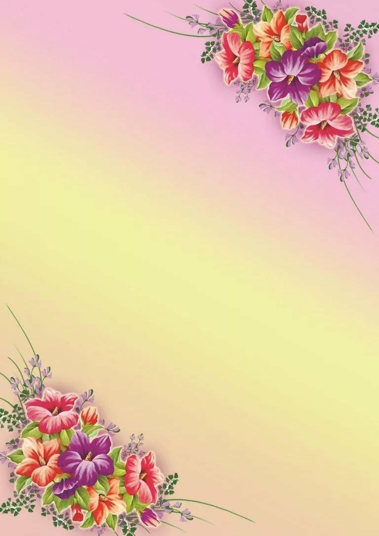 Подложка на открытку с цветами