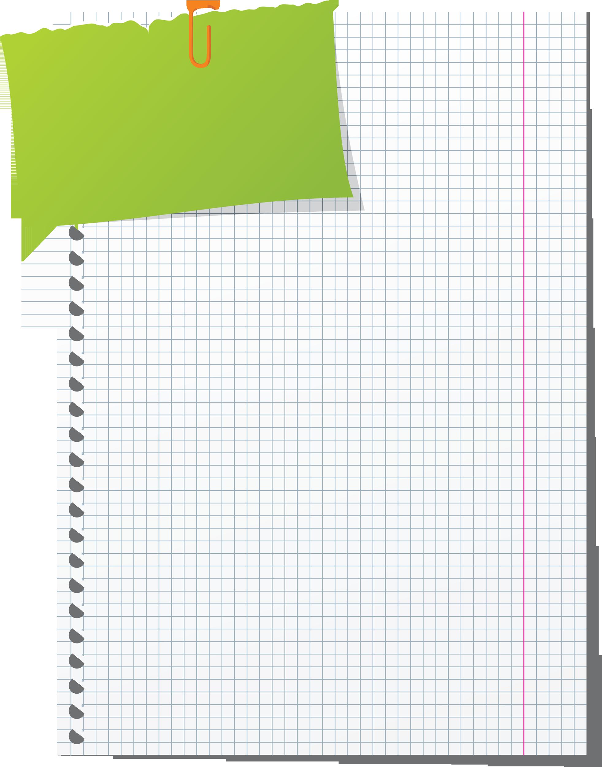Листочек тетрадный картинка