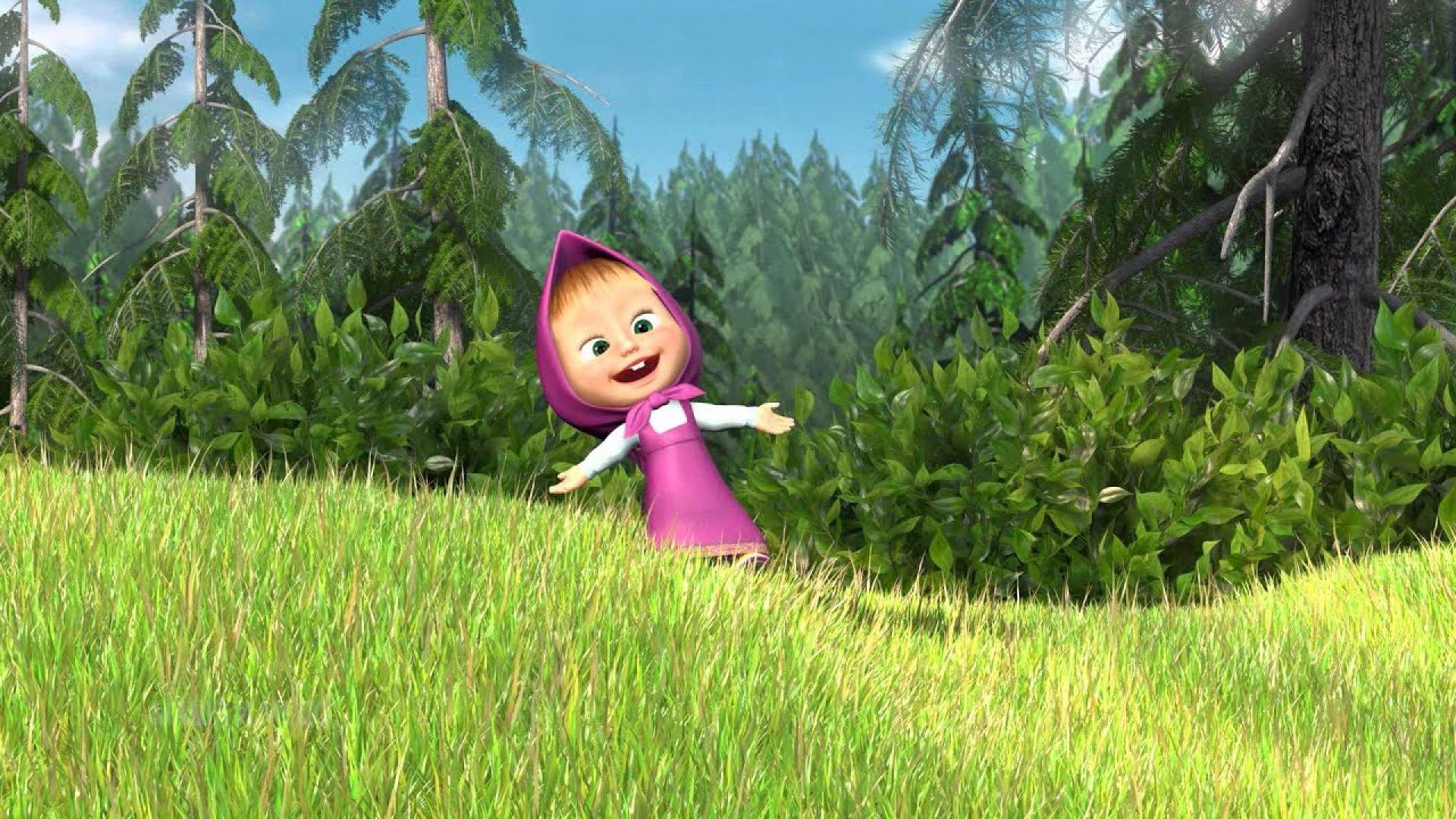 Маша в лесу картинка