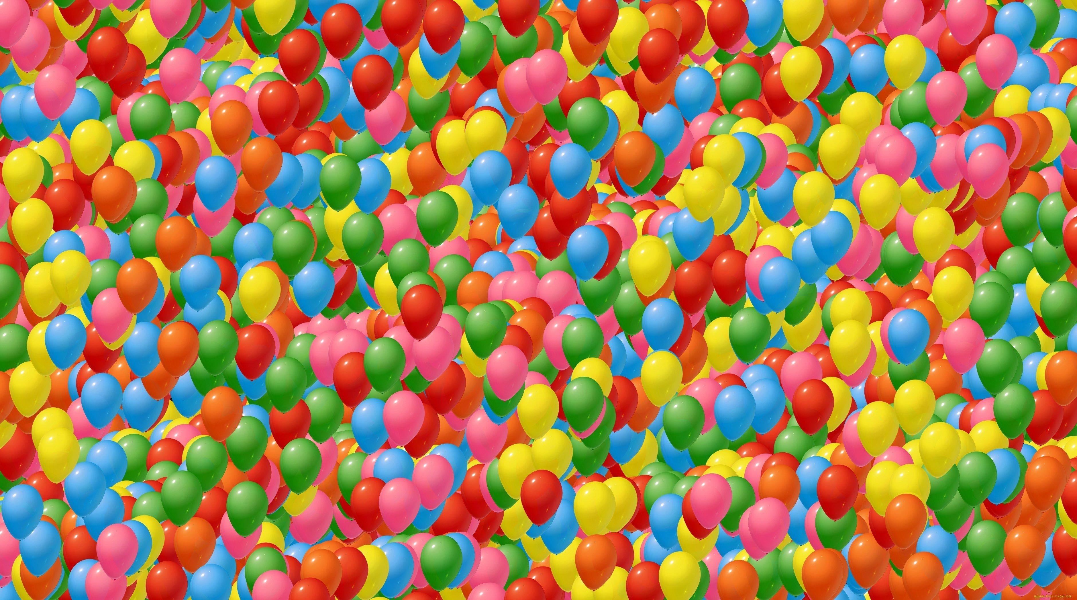 Фон воздушные шарики