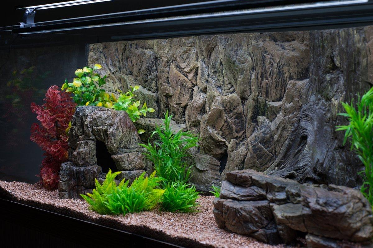 дом фон из ткани для аквариума если