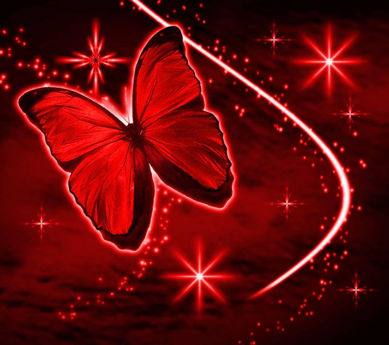 Картинки красные бабочки на черном фоне