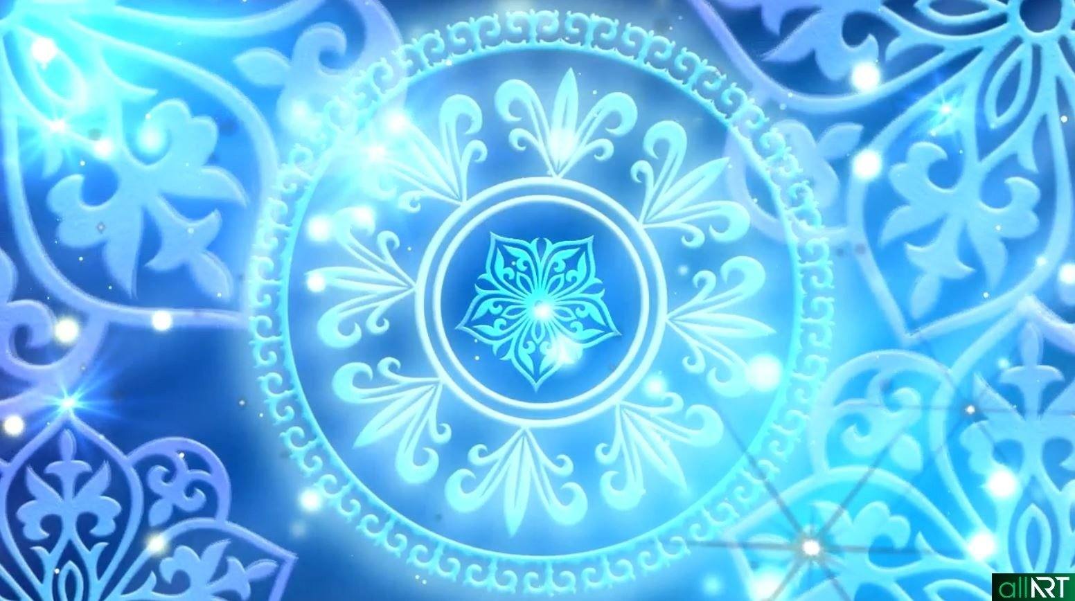 Голубой фон с казахским орнаментом