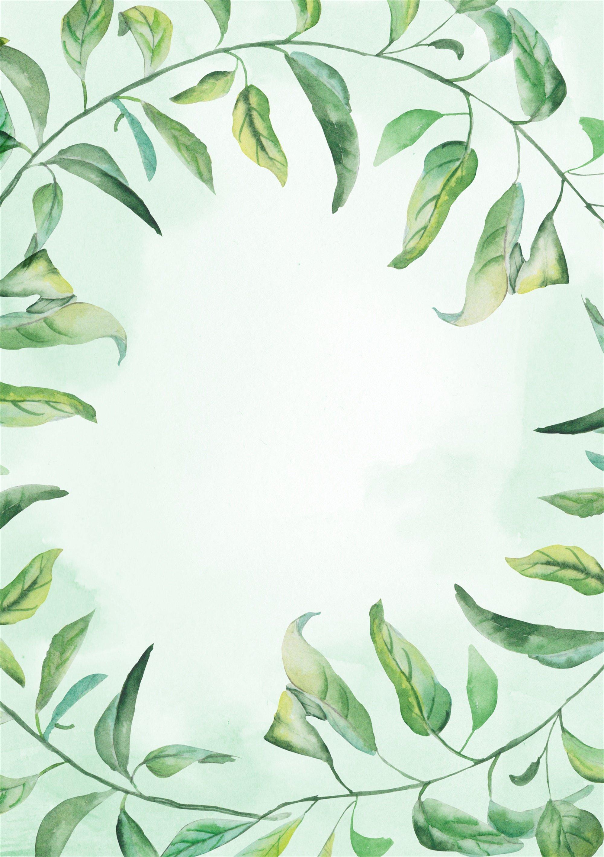 просто рисунок зеленые листья на белом фоне приготовления займет