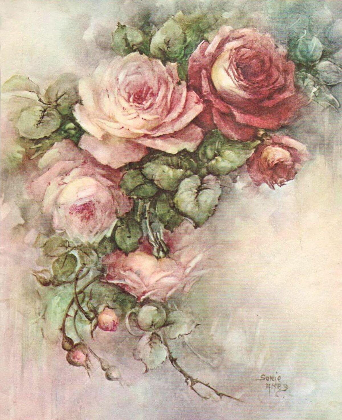 картинки цветочные винтажные в картинках