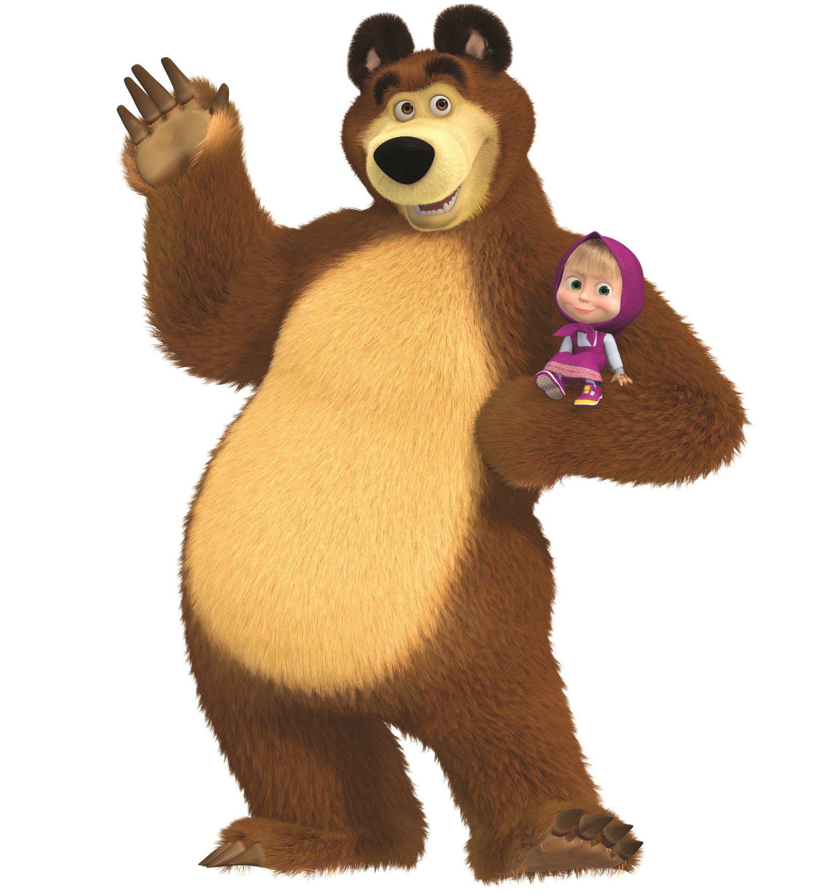 маша и медведь герои на белом фоне есть слабый аккумулятор