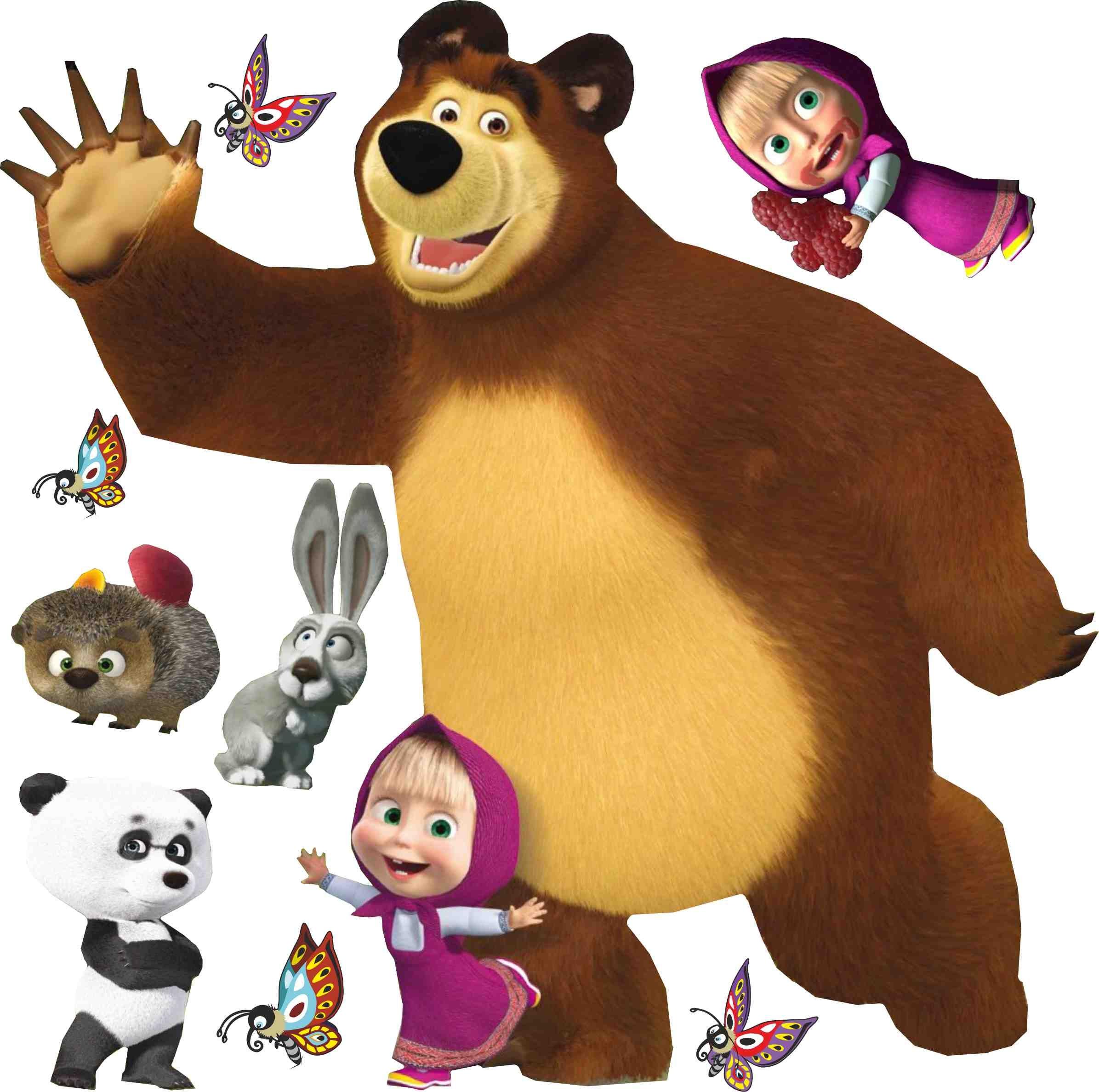 маша и медведь картинки на прозрачном фоне метельчатый