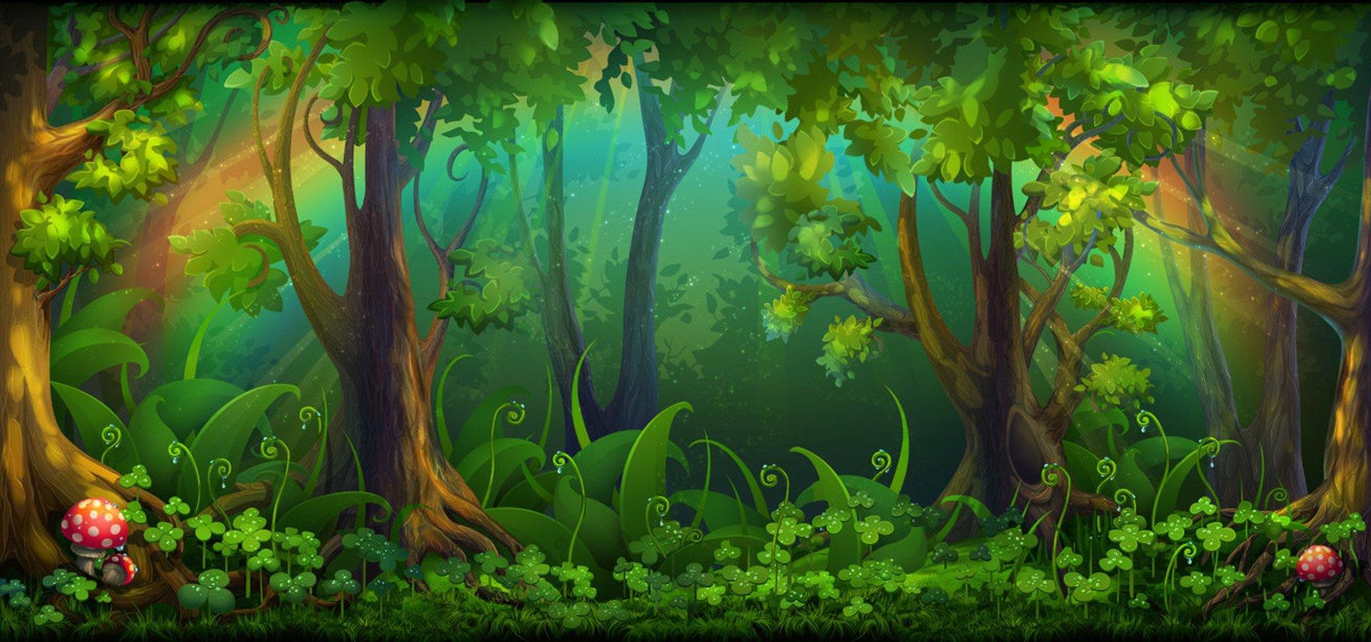 Сказочный лес рисунок для детей