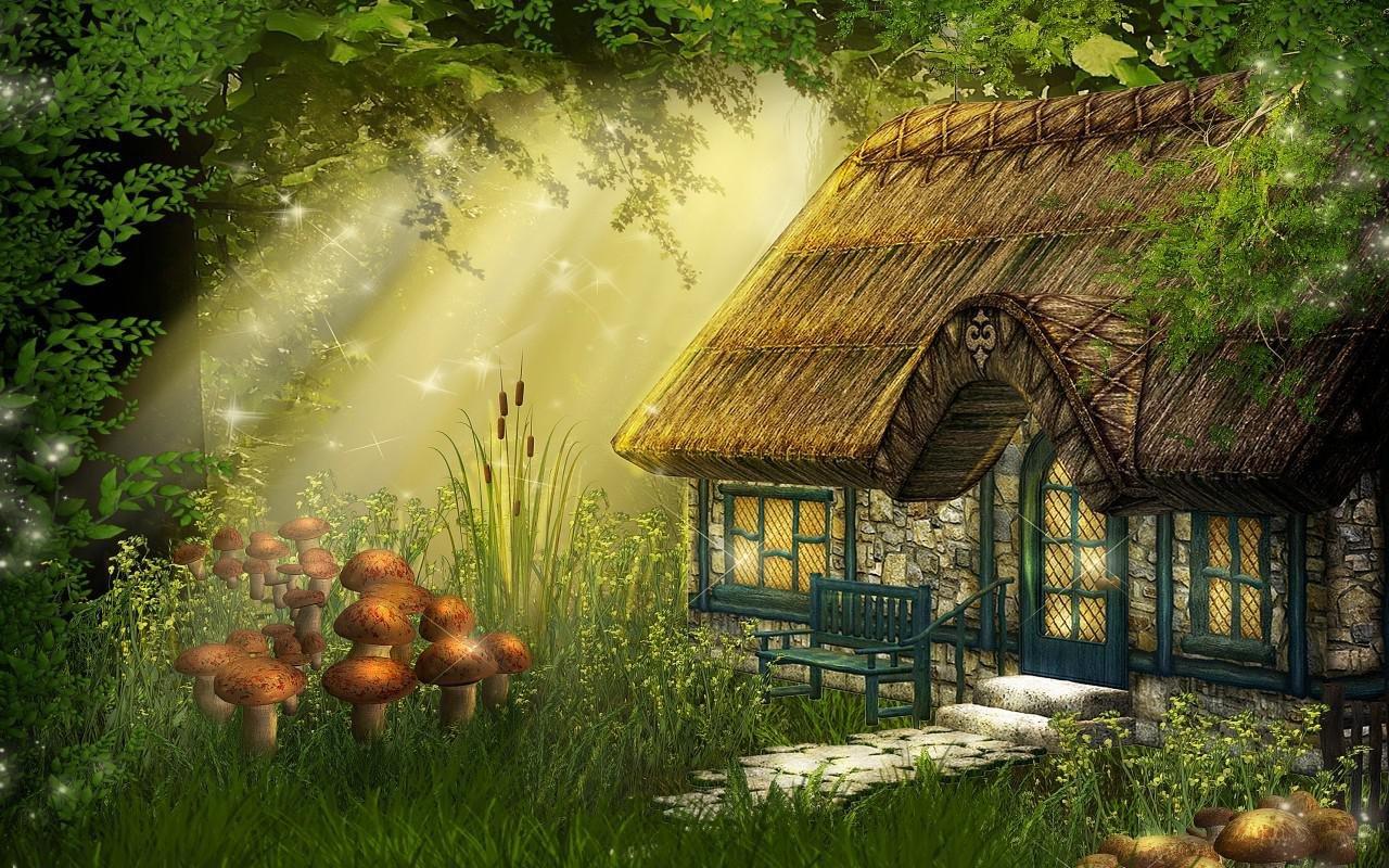Волшебный зеленый дом картинки