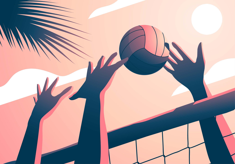 Картинки с волейболом нарисованные