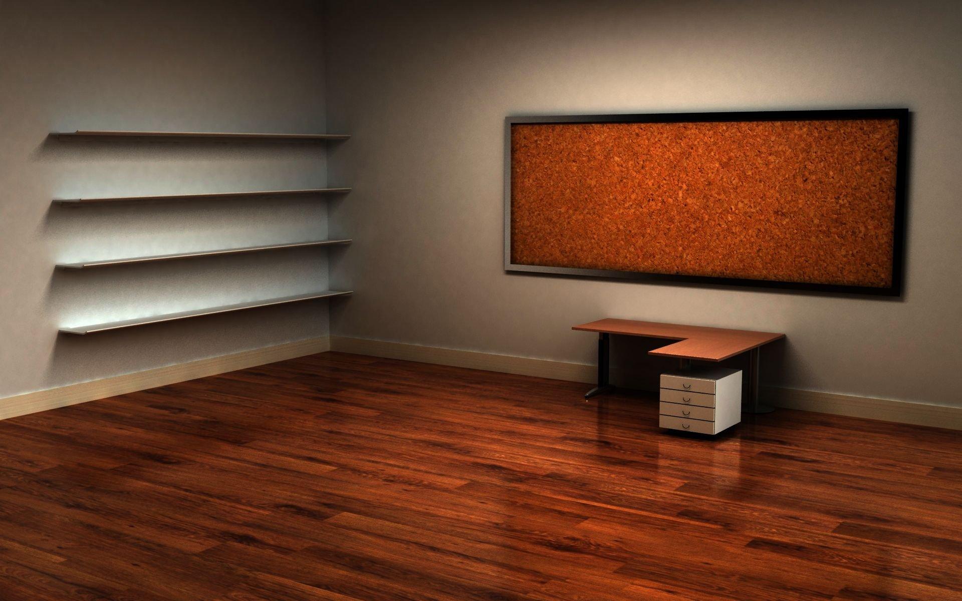это картинка компьютерный стол полки для ярлыков думаю
