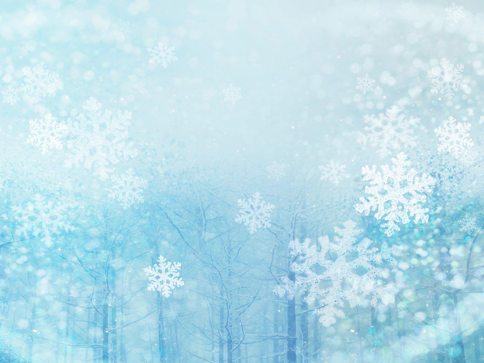 Фоны для презентаций зима снег снежинки