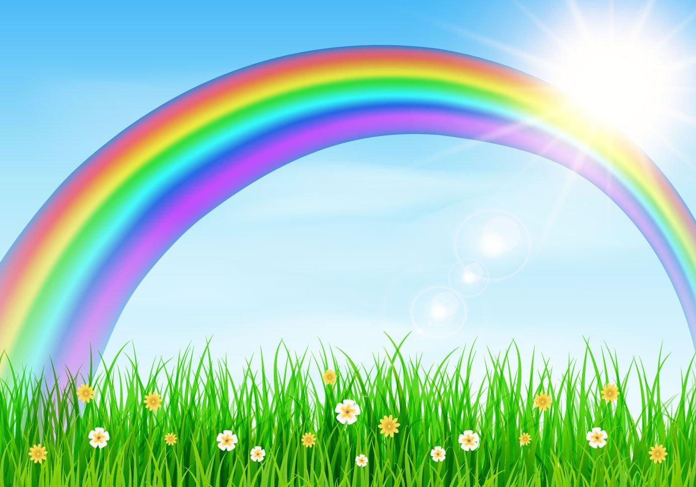 Картинки радуга из цветов