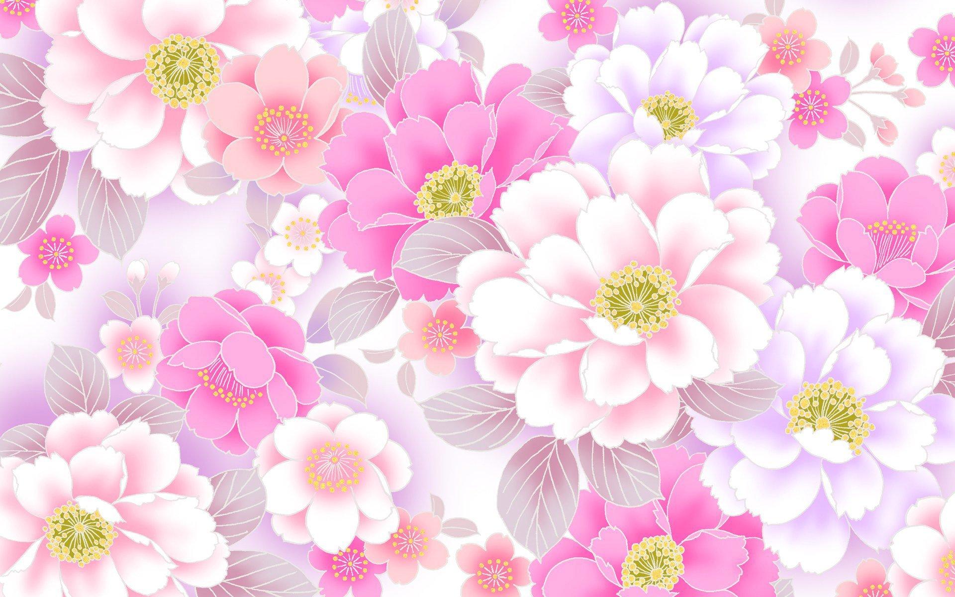 Цветочный фон для открытки женской