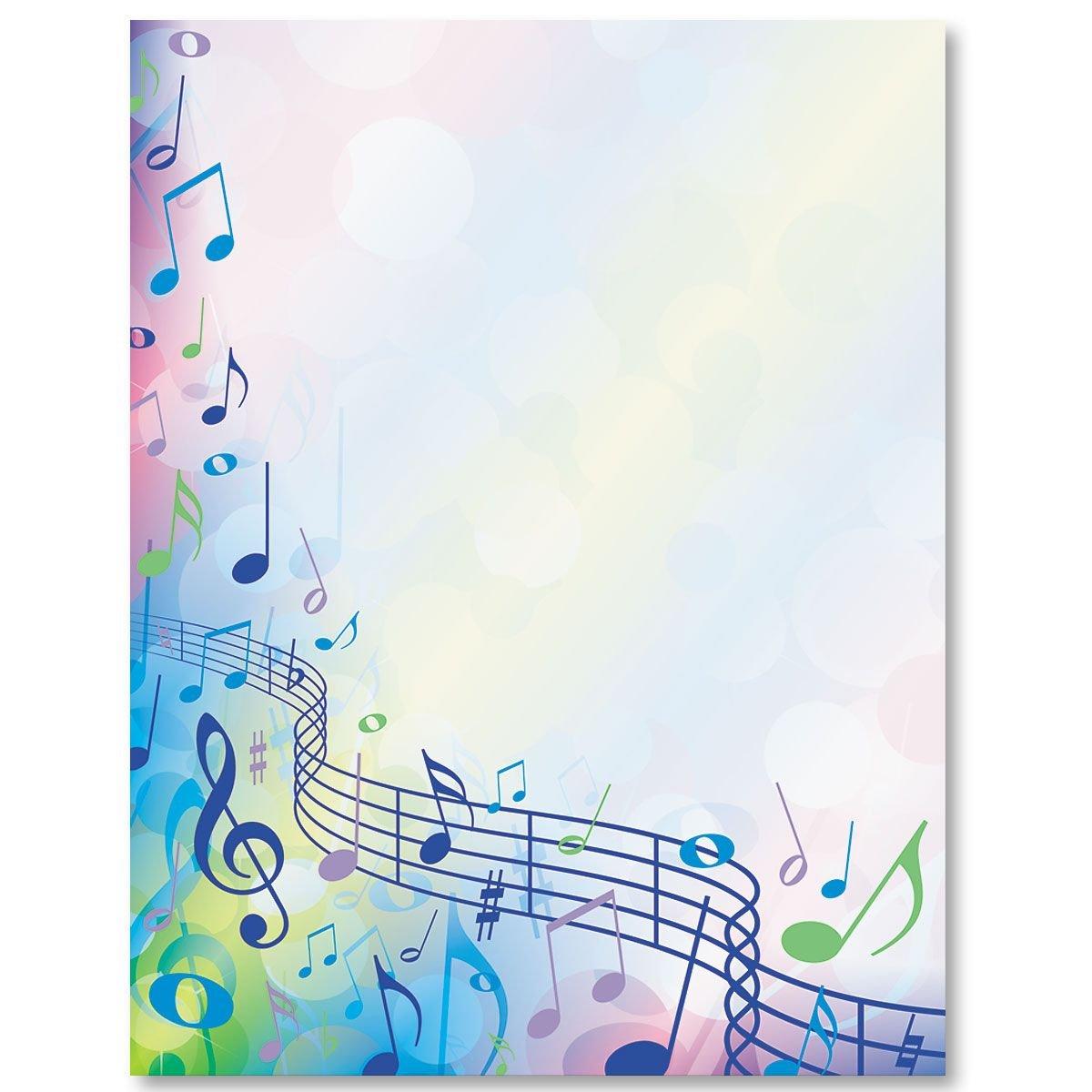 фон для открытки ноты исполнении звезды свела