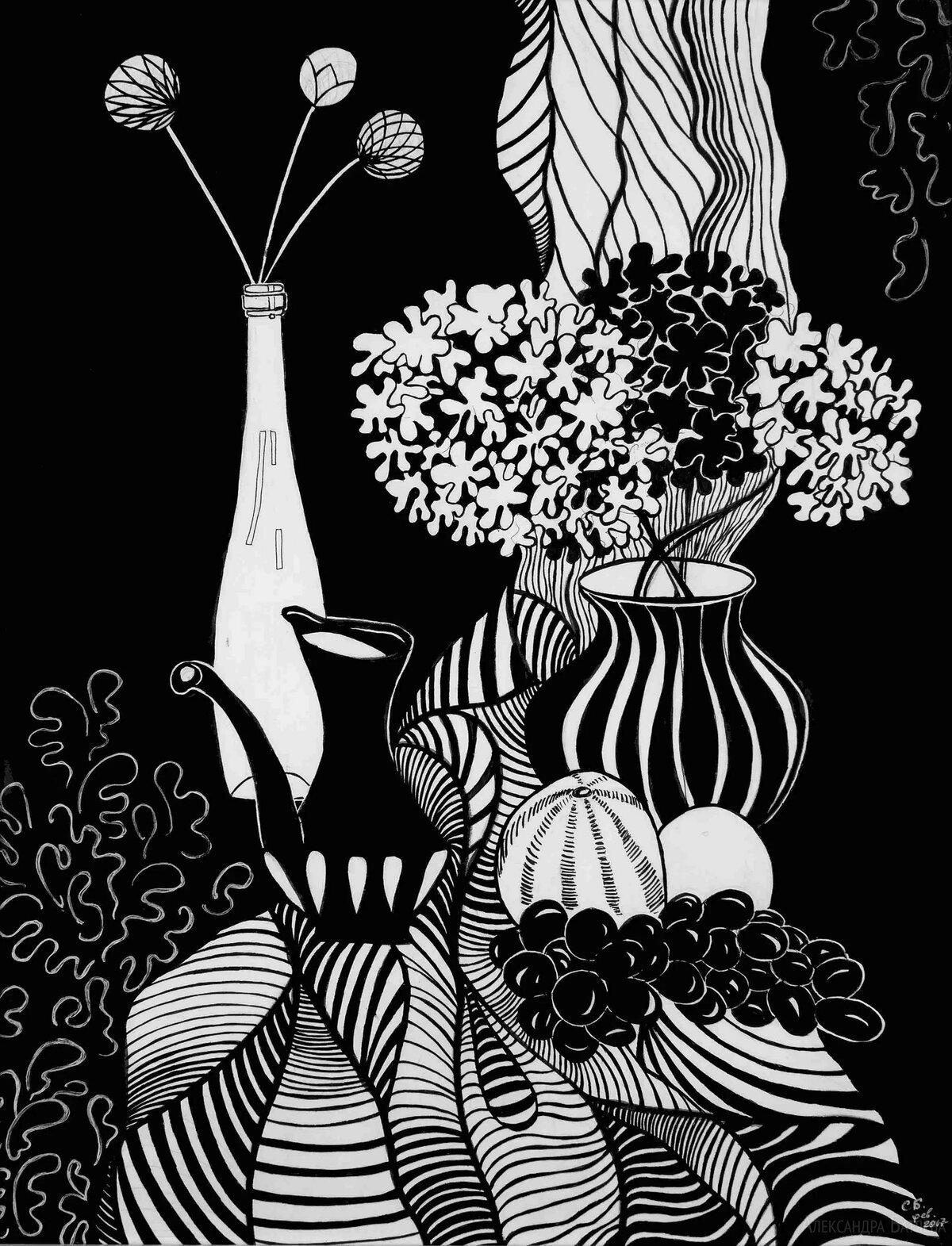 Работы черно белые картинки