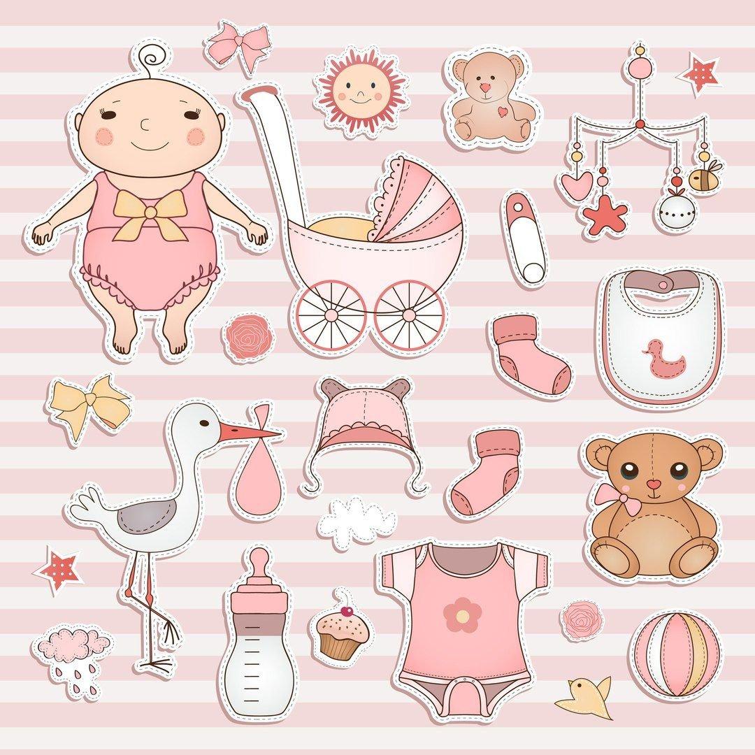 Новорожденные открытки вектор