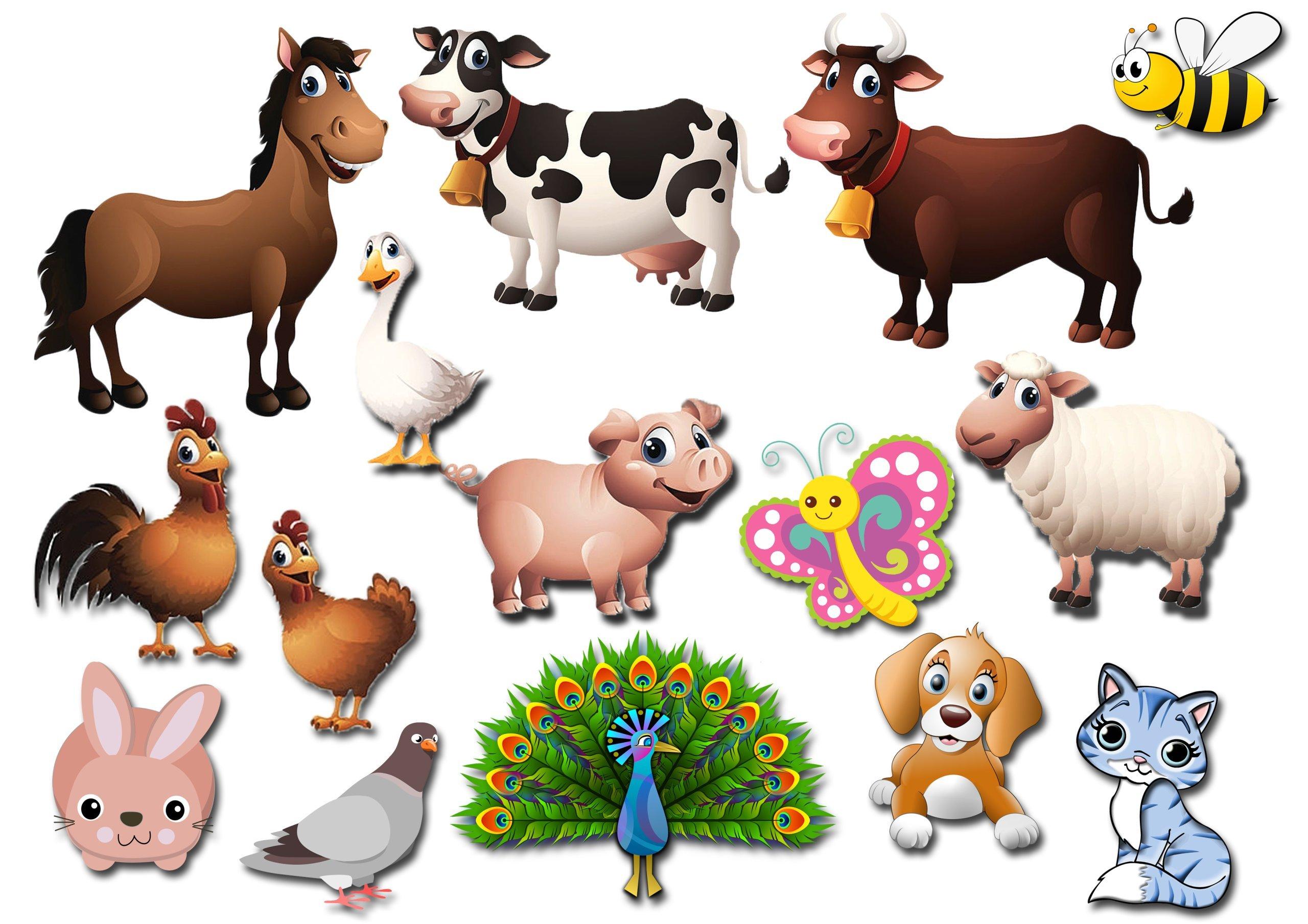 Картинки для печати домашние животные
