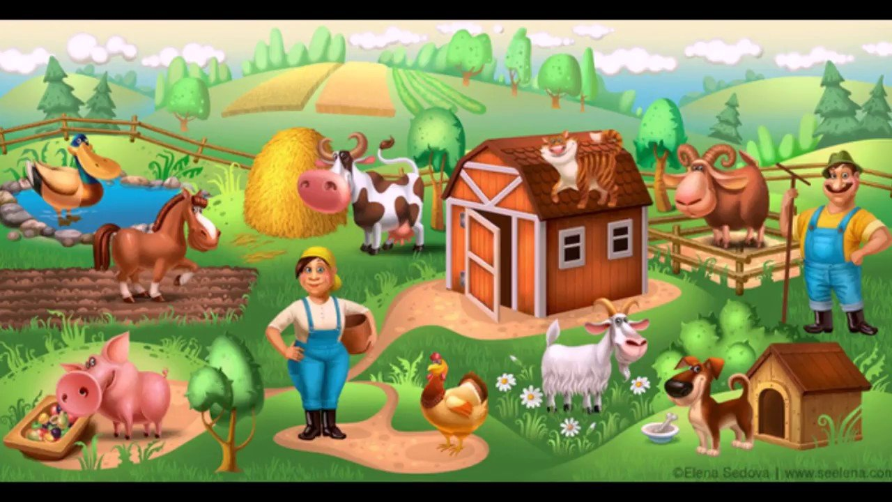 Картинка ферма детям