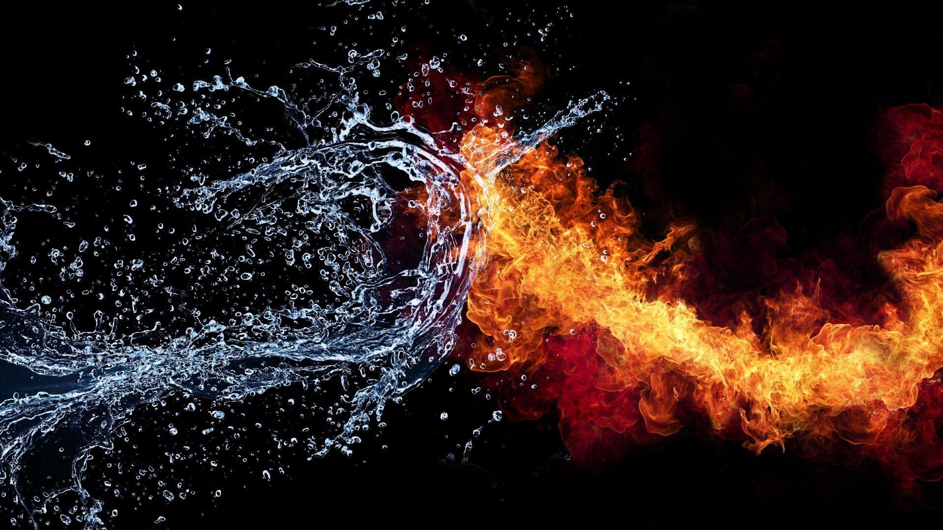 Картинка костер пламя огонь и вода