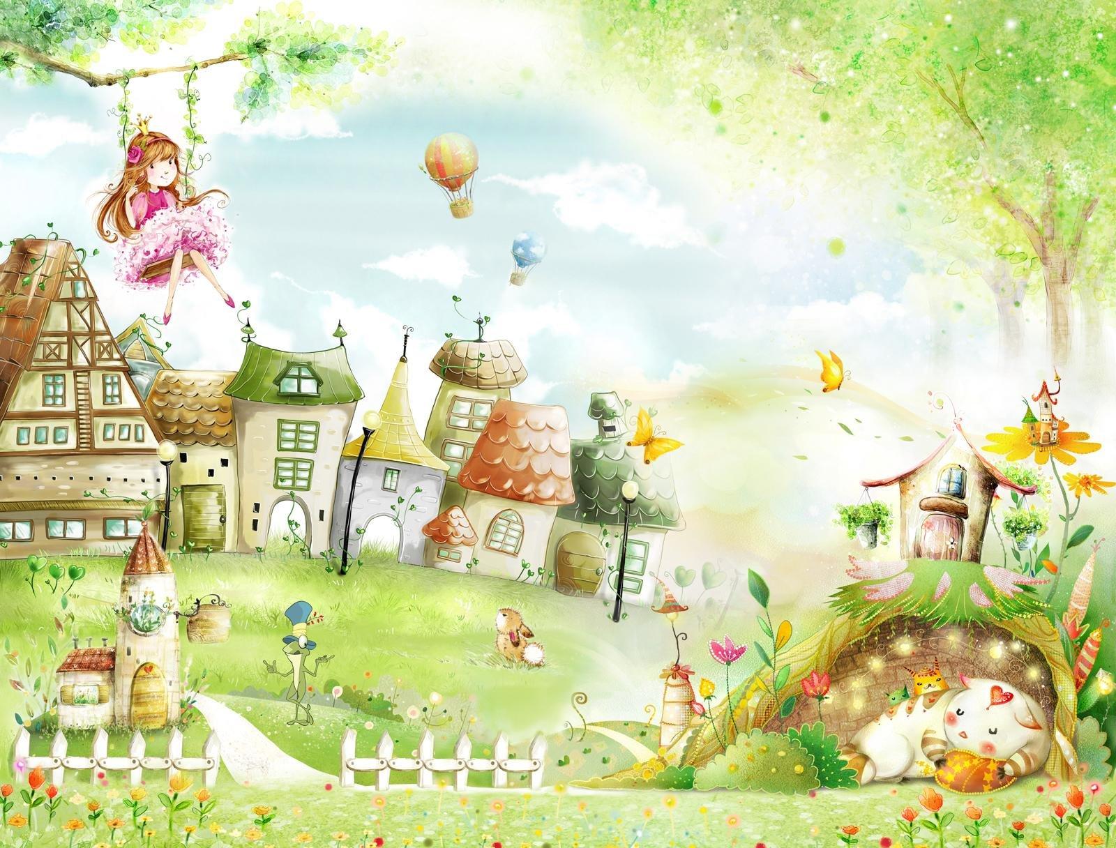 картинки сказочный город полевыми цветами ромашек