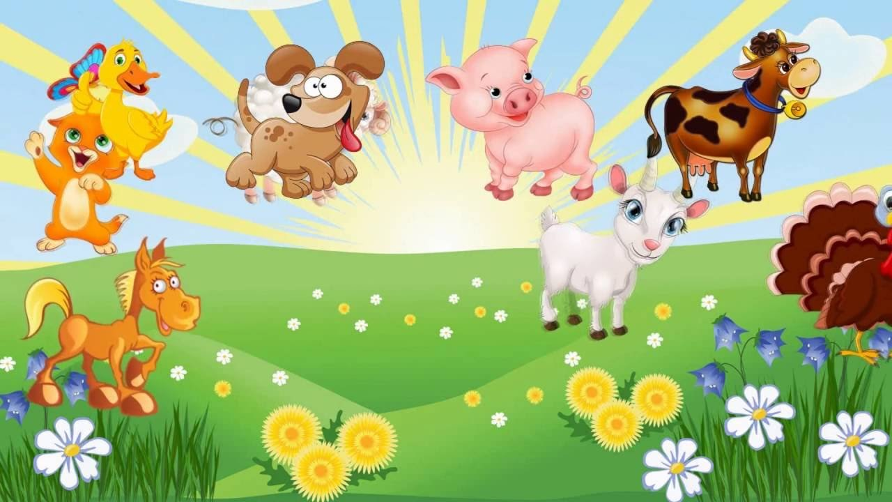 Картинки для малышей с животными с озвучкой