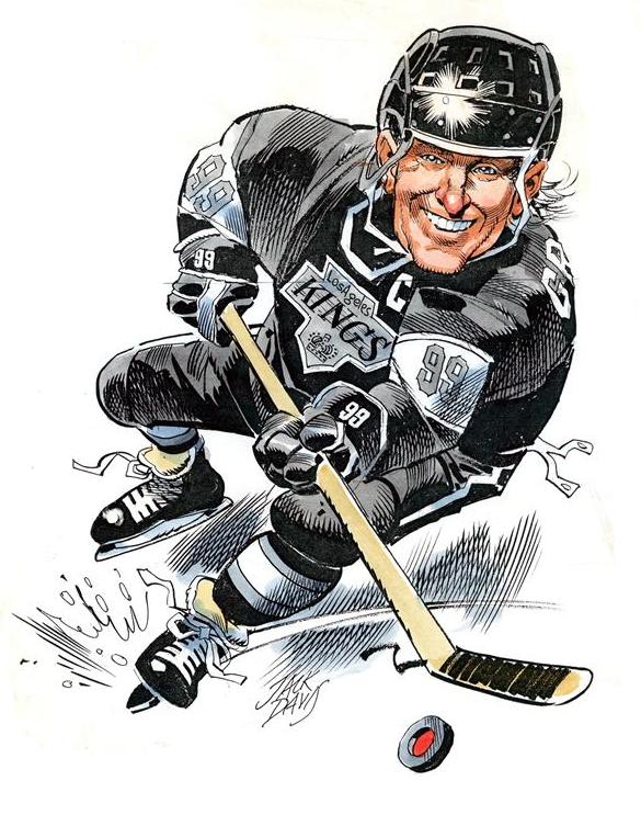 Хоккеист смешной рисунок