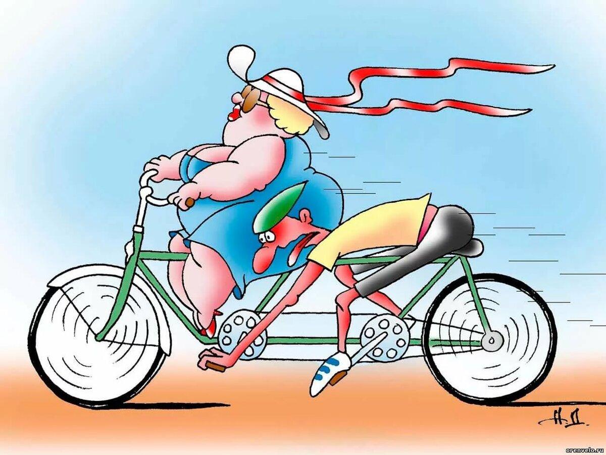 Велосипед картинки прикольные