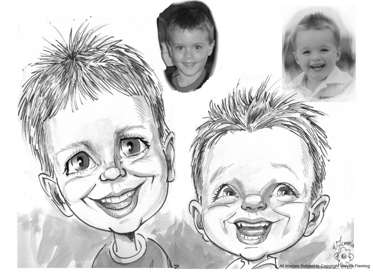 Картинки детей шарж