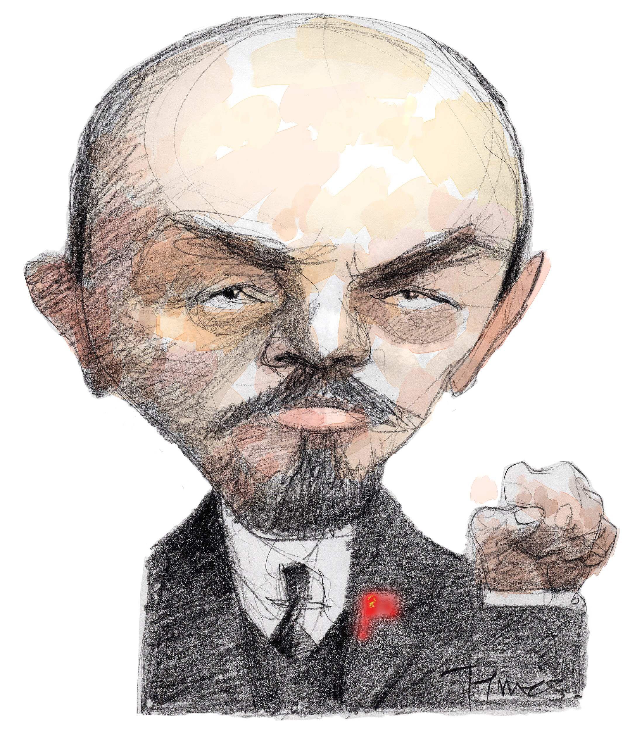 Карикатурные картинки с лениным