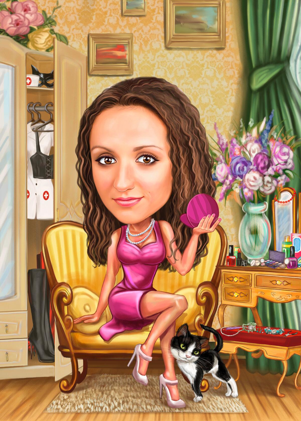 Картинки шарж женщина
