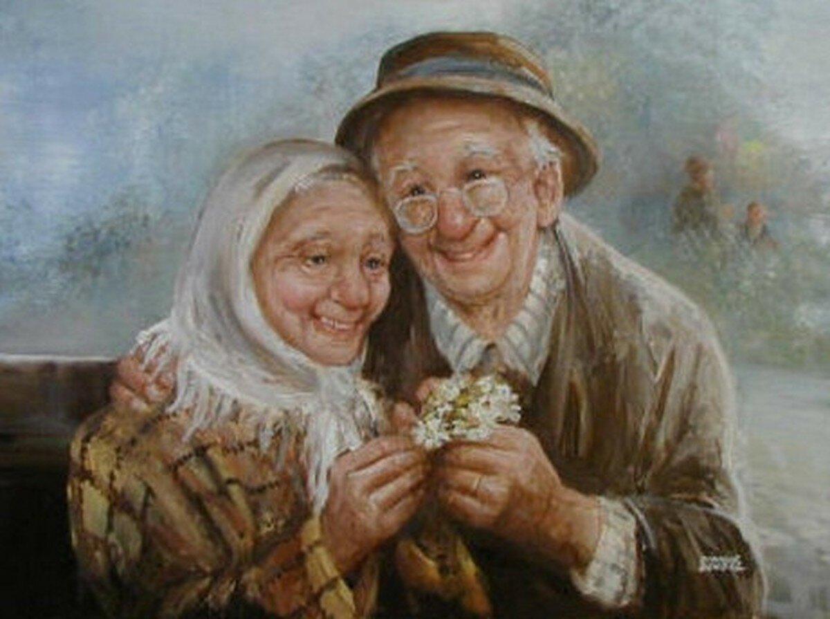 Старики и дети (52 фото)